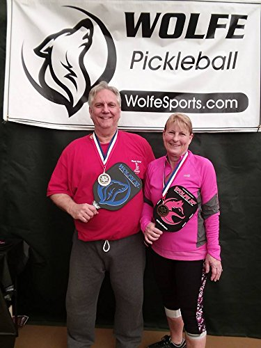 Wolfe XF 3K Carbon Fiber and Graphite - Edgeless Pickleball Paddle (Blue)