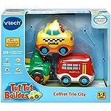 Vtech - 207325 - Jouet Musical - Tut Tut Bolides - Coffret Trio City - Taxi Jaune + Bus Rouge + 4 X 4