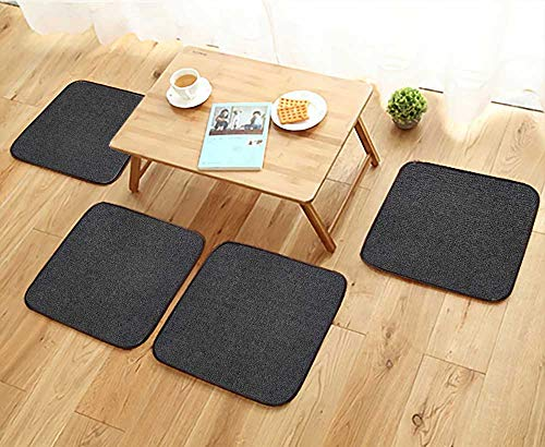 - Jiahonghome Modern Chair Cushions Black Leather Background Convenient Safety and Hygiene W23.5 x L23.5/4PCS Set