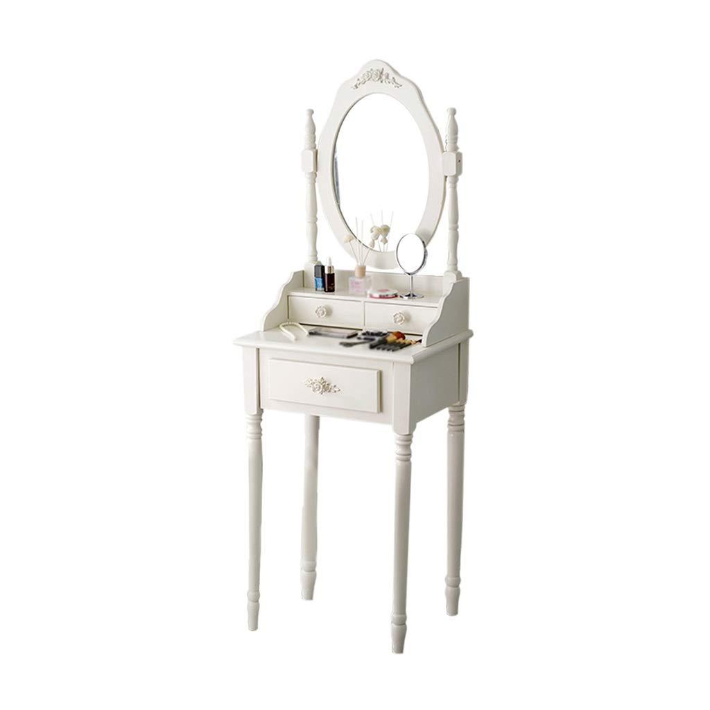 女の子ドレッシングテーブル、白い丈夫なドレッシングテーブルホームメイクアップミラー寝室トイレドレッシングテーブルホームデコレーション (色 : A, サイズ さいず : 60 cm 60 cm) B07PHS7YVC A 60 cm 60 cm