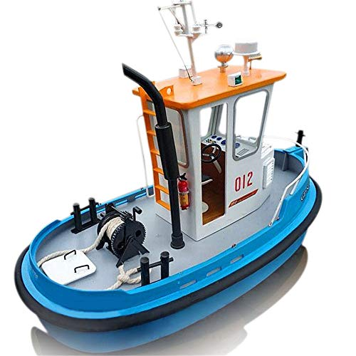 1:18 ABS Wooden Boat Model Ship SENREAL Pine Mini RC Tugboat Rescue Simulation DIY Tools Kit 10.65.17.48