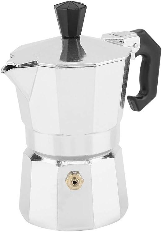 MAGT Cafetera, 30 Ml 1 Taza De Aluminio Tipo Italiano Moka Pot Cafetera Espresso Cafetera Resistente A Altas Temperaturas Y Aislante Uso En La Oficina En El Hogar: Amazon.es: Hogar
