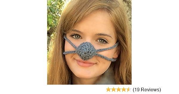Amazon Dark Gray Aunt Martys Original Nose Warmer Handmade