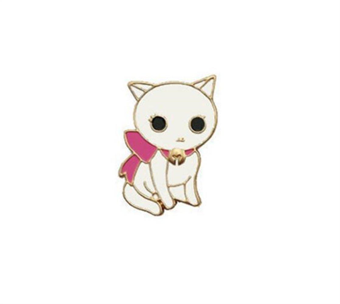 SunnyGod Badges Décoration Vintage Blanc Broches de Chat Broches Bouton Accessoires de vêtements (Blanc)