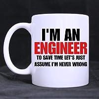I'm an Engineer Cute Coffee Mug Ceramic Inspirational Gifts for Kids Women Girls Birthday Gifts