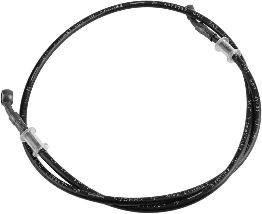 Greatangle Tubo freno universale per moto in acciaio intrecciato idraulico rinforzare la frizione del freno olio tubo flessibile tubo tubo tubo per bici da corsa sporca nero 120 cm