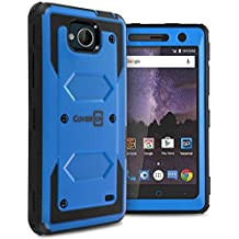 ZTE Majesty Pro Plus Case, ZTE Majesty Pro Hard Case, ZTE Tempo Case, CoverON Tank Series Full Body Front and Back Heavy Duty Hard Protective Phone Cover - Blue