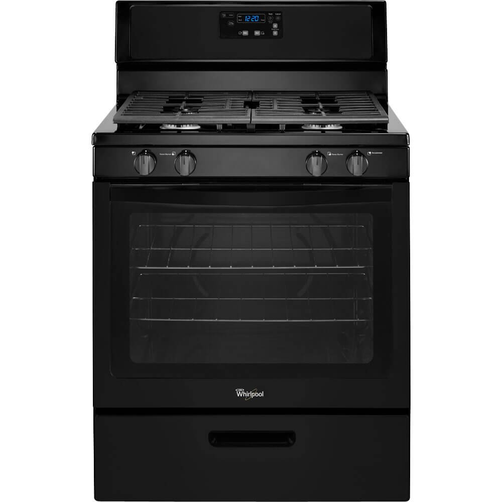 WHIRLPOOL GIDDS-110952 30'' 5.1 cu. ft. Single Oven Free-Standing Gas Range, Black by Whirlpool