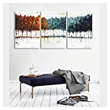 wall26 - 3 Piece Canvas Wall Art - Abstract Colorful Trees - Watercolor Painting Style Modern Home Decor - 24''x36''x3 Panels