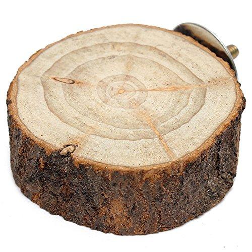 Healthy Clubs Holz-Element für den Vogelkäfig/Haustierkäfig, mit Schraubbefestigung, rund, Alternative zu herkömmlichen Sitzstangen, für Wellensittiche/Papageien