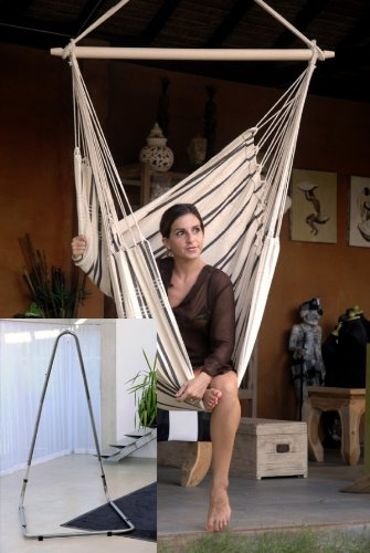 Amazonas Luna RockStone und Brasil cappuccino Hängesesselset