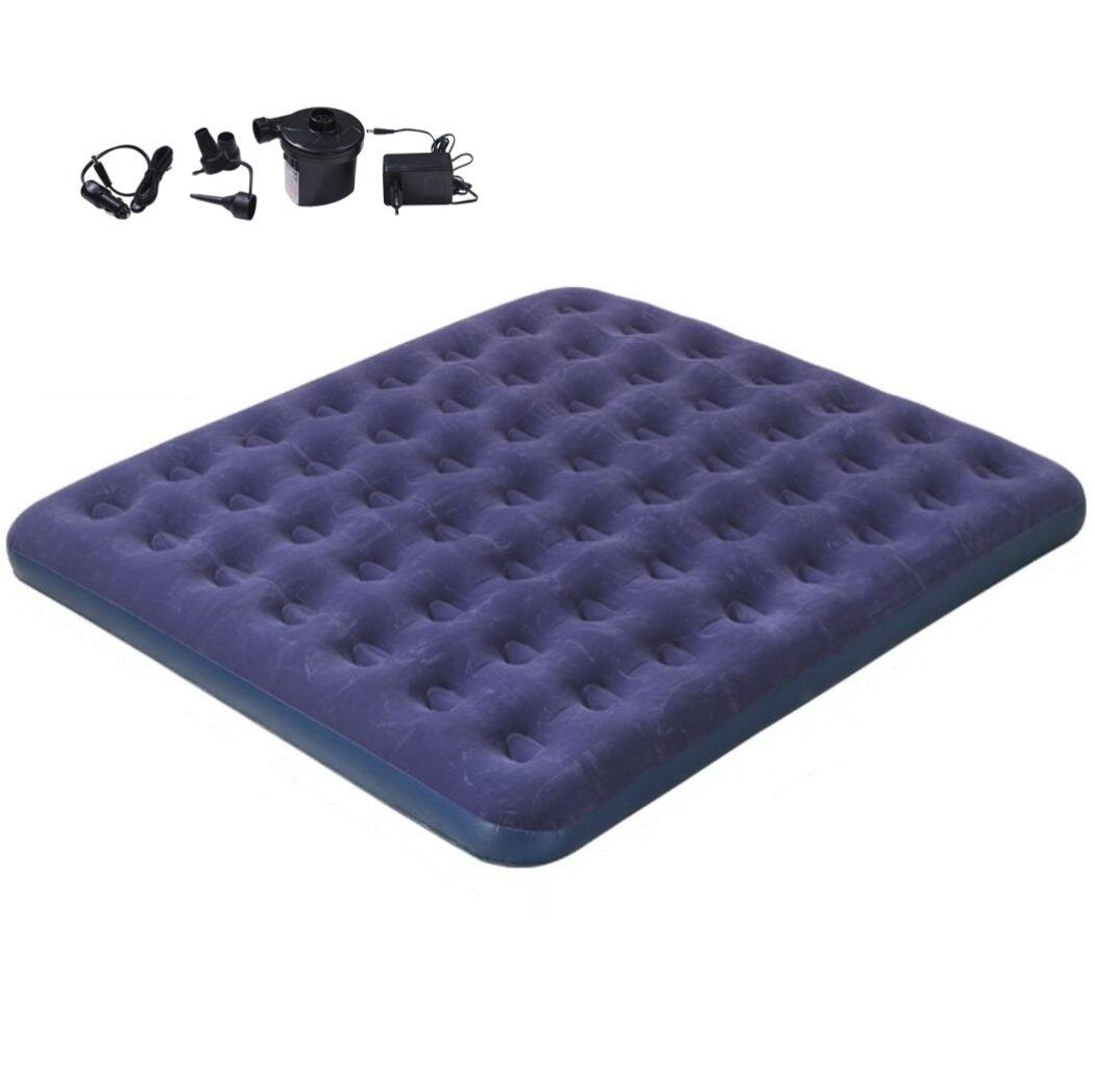 Luft-Betten erhöhen Luftmatratze, Reise Im Freien kampierendes tragbares Luftfaltbett mit elektrischer Luftpumpe des Hauses u. Des Autos, 183  203cm