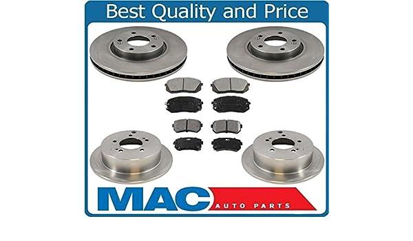 Para 12 - 15 Sportage 2.4 rueda delantera disco sólo F R freno de disco rotores de cerámica almohadillas: Amazon.es: Coche y moto