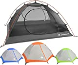 2 Person Backpacking Tent Hyke & Byke Yosemite 2P 3 Season Tent, Two Person Lightweight Design for Backpacking, Bike Packing, Thru Hiking, and Camping (Orange)