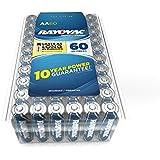 RAYOVAC AA 60-Pack HIGH ENERGY Premium Alkaline Batteries, 815-60PPF