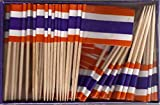 25 Box Wholesale Lot of Thailand Toothpick Flags, 2500 Small Mini Thai Flag Cupcake Toothpicks or Cocktail Picks
