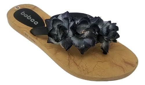 2a647e77c69 Women s Single Sided Hawaiian Floral Strap Summer Beach Thong Slip On Flip  Flops Slippers Sandals (