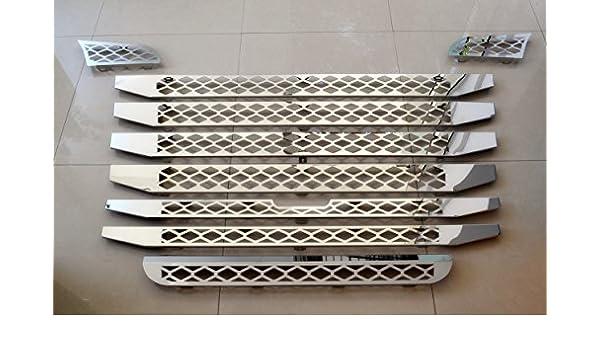 9 piezas Set de acero inoxidable para Scania R 2010 - 2016 camiones frente parrilla de malla cubre: Amazon.es: Coche y moto