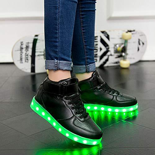Schuh Casual Schwarz Sneakers Classic Glühende LED Sneaker Turnschuhe Top Erwachsene Damen DOGZI Leuchtschuh Frauen Mode Unisex Low Sole Licht Neutral npwHa