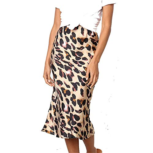 Sexy Autumn Winter Leopard Print Skirt Women Bodycon Party Club Midi Skirt Bottom Female Streetwear Casua
