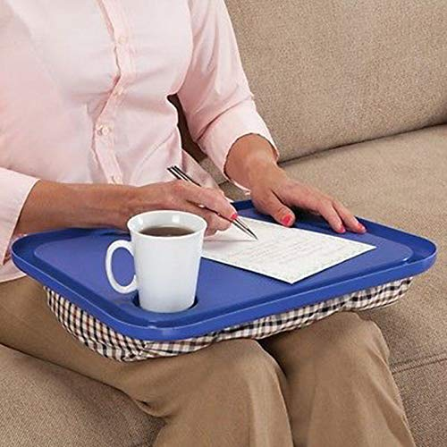 Celendi Lap Desk for Laptop Chair Student Studying Homework Writing Portable Dinner Tray (Blue)