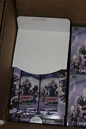Marvel Dangerous Divas Trading Cards OPEN box 24 sealed packs NO sketch