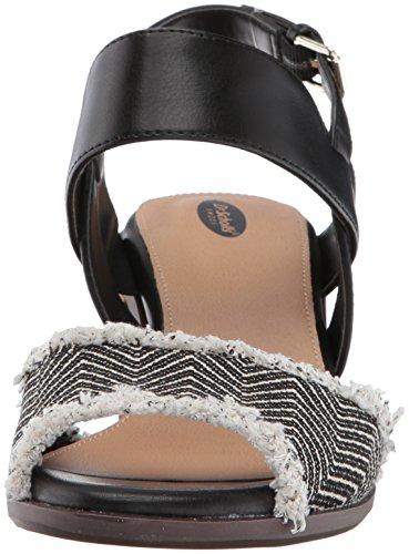 Dr. Scholls Shoes Sandalo Con Tacco Da Donna Con Plateau Nero / Rafia