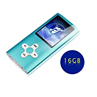 Goldenseller Blue Color Mp3 / mp4 Music Video Media Player Portable Videos Player / Music Player / Voice Recording Player + 16GB Micro SD Card
