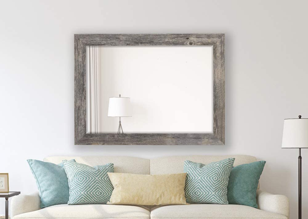 Hitchcock Butterfield Antique Weathered Grey Framed Coastal Wall Mirror