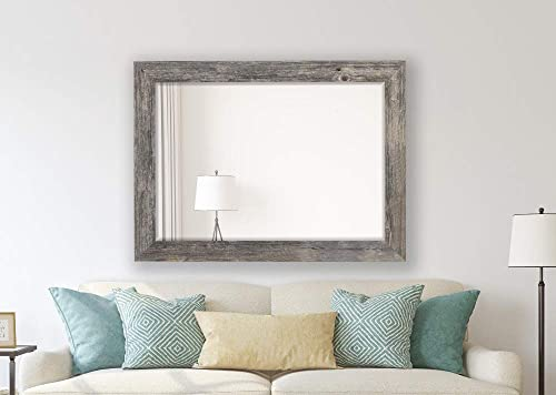 Hitchcock Butterfield Antique Weathered Grey Framed Coastal Wall Mirror, 35.75 W x 45.75 H, Gray