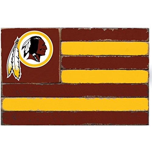 (Rustic Marlin Designs NFL Washington Redskins Team Flag Sign, 13