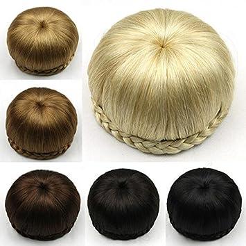 Amazon Le Bi You Synthetic Hair Chignon Braided Hair Bun