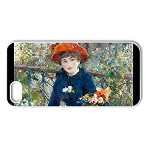 On the Terrace, Renoir - Case Cover for iPhone 5 and 5S (Watercolor style, White)