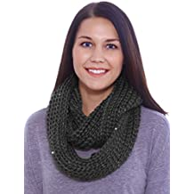 LRKC Women's Thick Knitted Winter Infinity Loop Circle Scarf