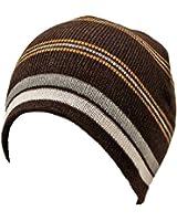 Luxury Divas Striped Tight Fitting Beanie Cap Hat