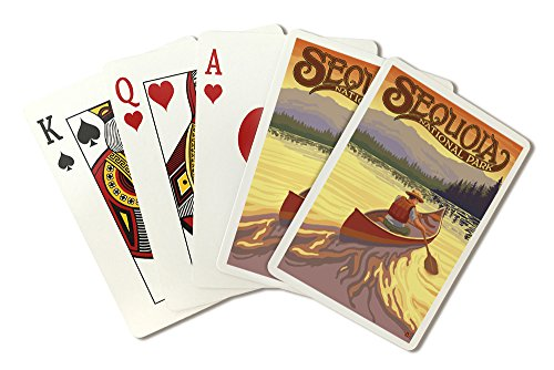 (Sequoia National Park - Canoe Scene (Playing Card Deck - 52 Card Poker Size with Jokers))