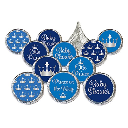 Little Prince Royal Baby Shower Stickers (324 Count)