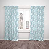 2 Panel Set Thermal Insulated Blackout Window Curtain,Light Blue Wall with Brushstrokes Seem Made by a Painter Modern Minimalist Design Baby Blue and White,for Bedroom Living Room Dorm Kitchen Cafe