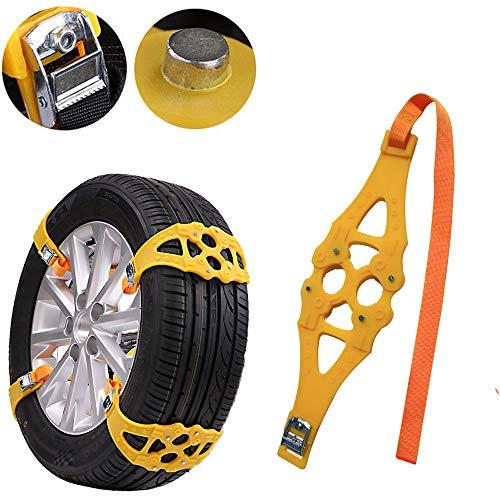 (Tire Anti-Skid Belt,Tuscom Winter Truck Car Trailer Snow Chain,Tire Width 13-19 inches, Easy Installation,for Snow,Snow Mud,Sand (1PC Black))