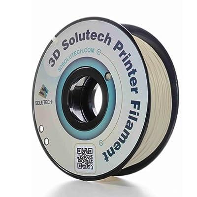 3D Solutech Printer Filament, Beige PLA, 1.75MM Filament, Dimensional Accuracy +/- 0.03 mm, 2.2 LBS (1.0KG) - 100% USA Plastic Filament