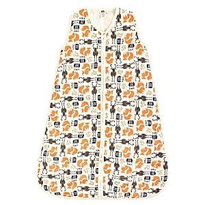 Hudson Baby Unisex Baby Safe Sleep Wearable Muslin Sleeping Bag, Forest 1-Pack, 12-18 Months