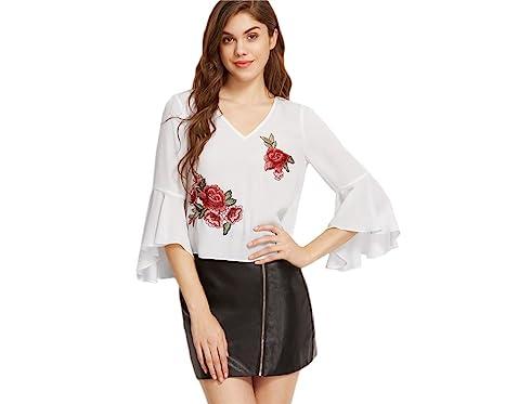 3308905b5e68 Blusas De Mujer De Moda 2018 Sexy Ropa Para Mujer Elegante Casuales ...