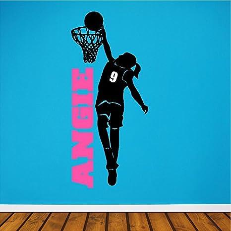 Amazon.com: Personalizado Girl jugador de baloncesto ...