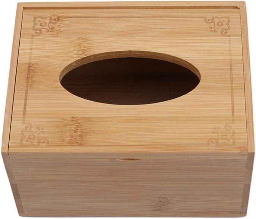 Color : L S Adatto per Qualsiasi Scena Chuihui Asciugamano Creativo casa Storage Box Bamboo Paper Storage Box Living Room Coffee Table Hotel Estratto Tessuto di Caso di Stile Moderno