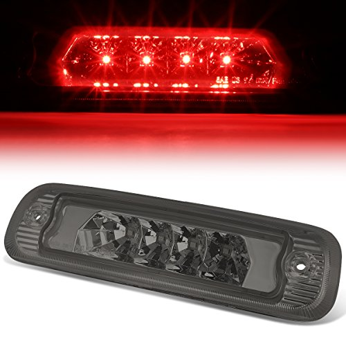 For Jeep Cherokee Rear Hight Mount LED 3rd Third Brake Light (Smoked Lens)
