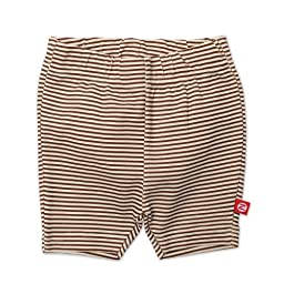 Zutano Baby Girls\' Candy Stripe Bike Shorts, Chocolate, 12 Months