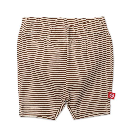 Zutano Baby Girls' Candy Stripe Bike Shorts, Chocolate, 12 Months