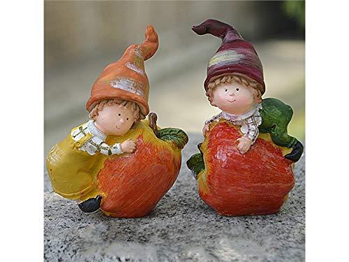 FenBuGu-JP 2個ミニチュア妖精ガーデンフルーツ子供装飾DIYドールハウスガーデンホームインテリア(アップル) (色 : As Shown)の商品画像