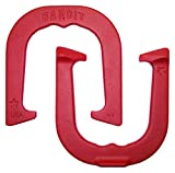 Bandit Professional Pitching Horseshoes- made in USA! (Red- Single Pair (2 shoes))