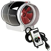 6 inch Vortex S Line S-600 Power Fan 347 CFM by Atmosphere + VenTech Variable Fan Speed Controller